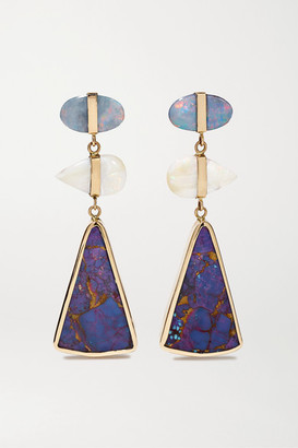 Melissa Joy Manning 14-karat Gold, Turquoise And Opal Earrings - one size