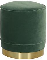 Kim Salmela Piper Stool - Jade Velvet frame, brass; upholstery, jade