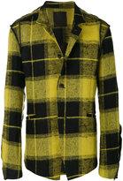 Lost & Found Ria Dunn - deconstructed tartan blazer - men - Cotton/Linen/Flax/Polyamide/Wool - S