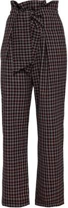 Paper London Checked Wool-blend Straight-leg Pants