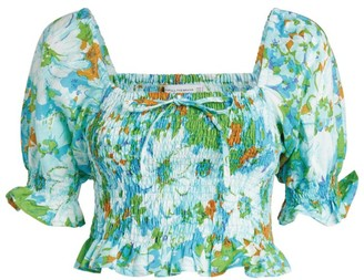 Faithfull The Brand Lenora Gardone Floral Top