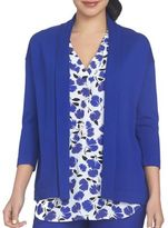 Chaus Bohemian Bloom Open Front Cardigan