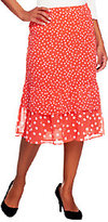 Liz Claiborne New York Tiered Mixed Dot Lined Skirt