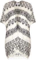 Velvet by Graham & Spencer Aracel geometric-embroidered cotton kimono