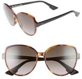 Christian Dior Women's Onde 58Mm Oversized Sunglasses - Black Havana