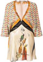 Vionnet color block printed blouse