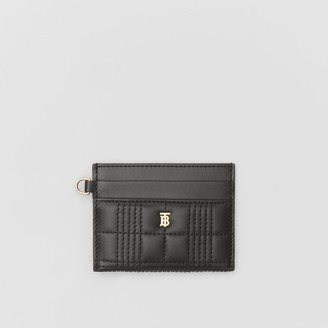 Burberry Monogram Motif Quilted Lambskin Card Case