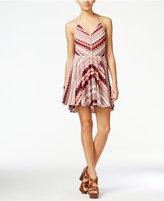 Jessica Simpson Nicola Printed Halter Fit & Flare Dress