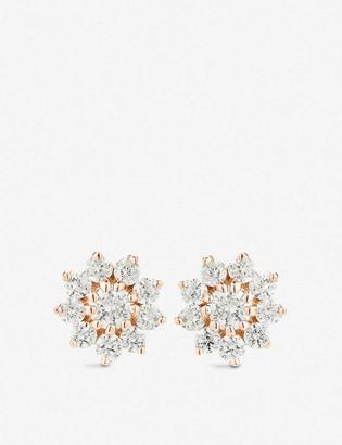 THE ALKEMISTRY Dana Rebecca Starburst 14ct rose-gold and diamond stud earrings