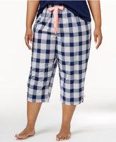 Jenni by Jennifer Moore Plus Size Cotton Plaid Pajama Pants, Only at Macy's