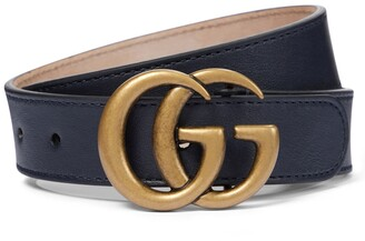 Gucci Kids Double G leather belt
