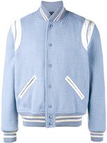 Saint Laurent wool and leather varsity jacket - men - Cotton/Lamb Skin/Polyamide/Virgin Wool - 52