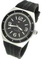 Tommy Hilfiger Synthetic Silicone Strap Black Dial Women's watch #1781005