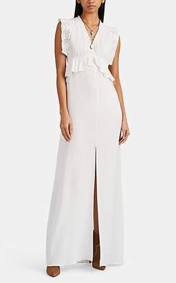 By Ti Mo byTiMo Women's Crocheted-Lace-Trimmed Crepe Maxi Dress - White
