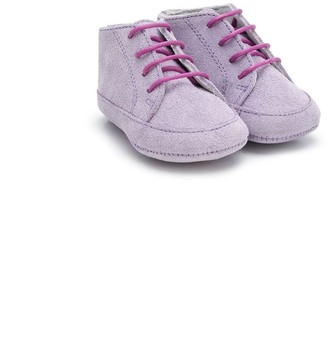 Gallucci Kids Textured Style Lace-Up Boots
