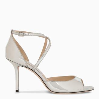 Jimmy Choo Metallic silver high sandal