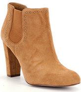Lauren Ralph Lauren Vivianne Suede Stud Detail Block Heel Booties