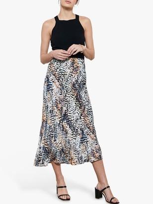 Mint Velvet Harley Print Midi Slip Skirt, Multi