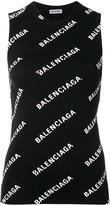 Balenciaga logo knit tank top