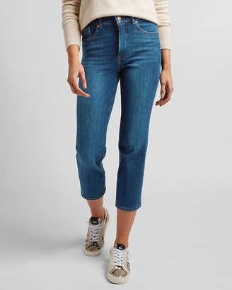 Express High Waisted 4-Way Hyper Stretch Straight Jeans