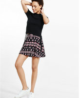 Express tapestry print button front skort