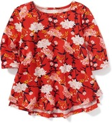 Old Navy Shirred Floral Scoop-Neck Top for Toddler Girls
