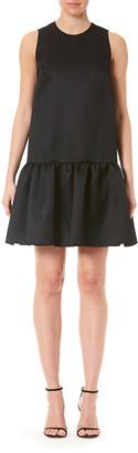 Carolina Herrera Sleeveless Ruffle-Hem Dress