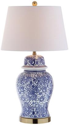 "Jonathan Y Designs Ellis 29.5"" Ceramic Table Lamp, Brass Gold"