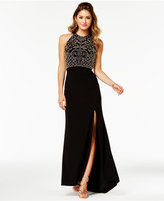 Morgan & Company Juniors' Embellished Open-Back Gown