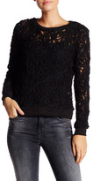 Romeo & Juliet Couture Long Sleeve Lace Sweater
