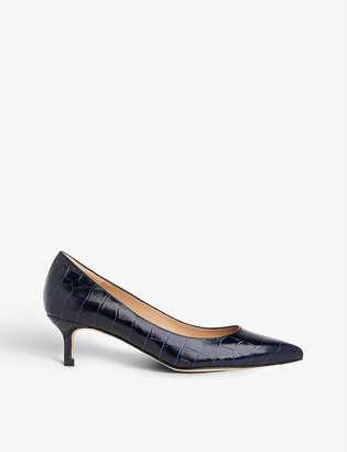 LK Bennett Audrey pointed-toe suede courts