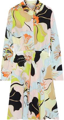 Emilio Pucci Bead-embellished Printed Silk Crepe De Chine Dress