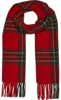 River Island MensRed check tassel scarf