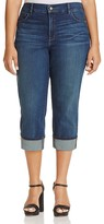NYDJ Dayla Wide Cuff Cropped Jeans in Oak Hill