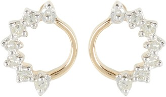 Adina Super Tiny Side Diamond Circle Earrings