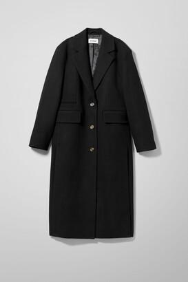 Weekday Laya Oversized Tailored Coat - Black