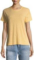 Rag & Bone Crewneck Short-Sleeve Striped Linen T-Shirt