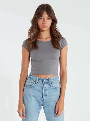 Free People Cap Sleeve Crop Tee