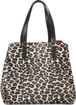 Gerard Darel Tote Simple Two in Calfskin and Leopard Print