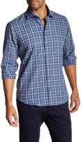 Toscano Long Sleeve Jaspe Plaid Button Up Shirt