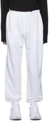 Bianca Saunders SSENSE Exclusive White Ripple Lounge Pants