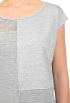 AG Jeans The Patchwork Tee - Heather Grey
