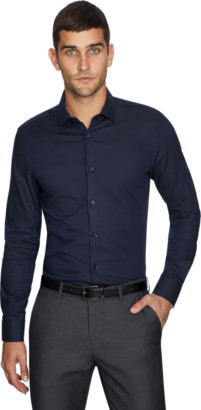 yd. Navy Mitch Slim Dress Shirt
