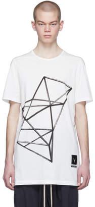 Rick Owens White Graphic Tarp T-Shirt