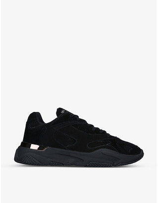 Mallet Lurus Blackwater suede and nubuck leather trainers