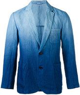 Blue Blue Japan gradient blazer - men - Linen/Flax/Polyester - L