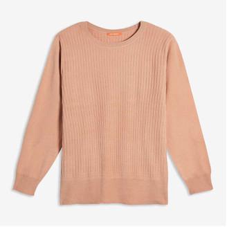 Joe Fresh Women+ Textured Sweater, Off White (Size 2X)