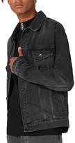 Topman Men's Oversize Black Denim Jacket