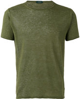 Zanone fine knit T-shirt - men - Linen/Flax - 48