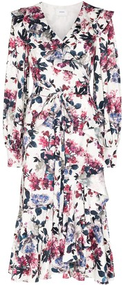 Erdem Jerridine printed silk wrap dress
